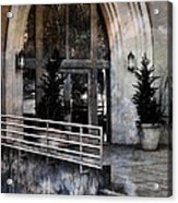 Enter Here -- Filtered Version Acrylic Print