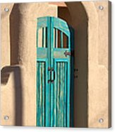 Enter Turquoise Acrylic Print