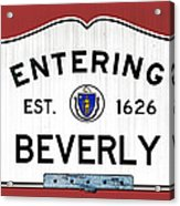 Entering Beverly Acrylic Print