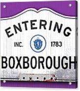 Entering Boxborough Acrylic Print