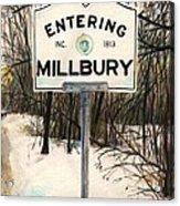 Entering Millbury Acrylic Print