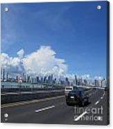 Entering Panama City In Panama Acrylic Print