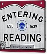 Entering Reading Acrylic Print