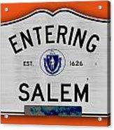 Entering Salem Acrylic Print