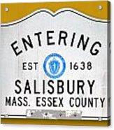 Entering Salisbury Acrylic Print