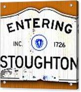Entering Stoughton Acrylic Print
