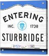 Entering Sturbridge Acrylic Print