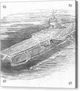 Enterprise Aircraft Carrier Acrylic Print