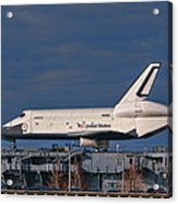 Enterprise At The Intrepid Acrylic Print by S Paul Sahm