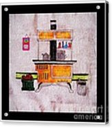 Enterprise Woodstove - Yellow Acrylic Print by Barbara Griffin