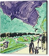Entrance To A Large Garden In Dresden Acrylic Print by Ernst Ludwig Kirchner