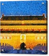 Entrance To Forbidden City Acrylic Print