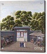 Entrance To Honam Temple, China, 1800s Acrylic Print