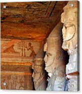 Entrance To The Great Temple Of Ramses II Acrylic Print