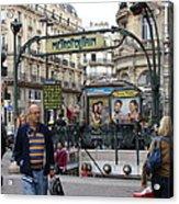 Entrance To The Paris Metro Acrylic Print