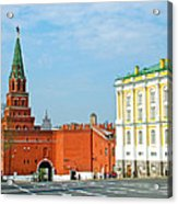 Entry Gate At Armory Museum Inside Kremlin Wall In Moscow-russia Acrylic Print