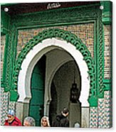 Entry To A Mosque For Men Only In Tangiers-morocco Acrylic Print