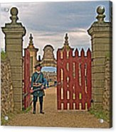 Entry To Fortress In Louisbourg Living History Museum-1744-ns Acrylic Print