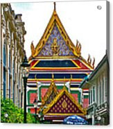 Entryway To Middle Court Of Grand Palace Of Thailand In Bangkok Acrylic Print