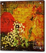 Envoi De Fleurs Acrylic Print