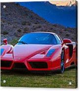 Enzo Ferrari Bold Acrylic Print