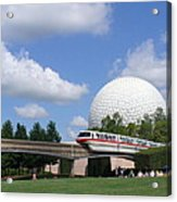 Epcot And The Monorail Ride Acrylic Print