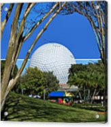 Epcot Globe 02 Acrylic Print by Thomas Woolworth