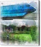 Epcot Globe And Blue Monorail Walt Disney World Photo Art 01 Acrylic Print