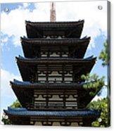 Epcot Pagoda Acrylic Print