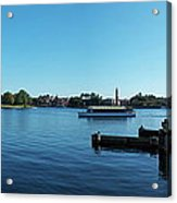 Epcot World Showcase Lagoon Panorama 01 Walt Disney World Acrylic Print