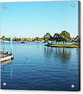 Epcot World Showcase Lagoon Panorama 05 Walt Disney World Acrylic Print