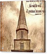Ephesians 2 14 Acrylic Print