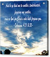 Ephesians Four Thirtyone And Two Acrylic Print