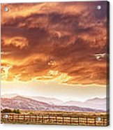 Epic Colorado Country Sunset Landscape Panorama Acrylic Print