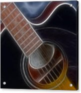 Epiphone Acoustic-9481-fractal Acrylic Print