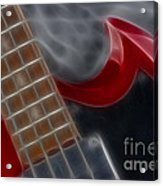 Epiphone Sg Bass-9205-fractal Acrylic Print