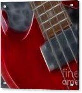 Epiphone Sg Bass-9222-fractal Acrylic Print