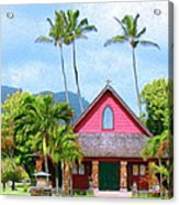 Episcopal Church In Kapaa Acrylic Print