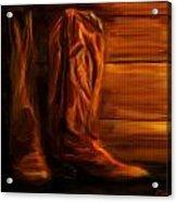 Equestrian Boots Acrylic Print