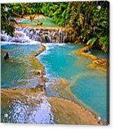 Erawan Waterfalls Thailand Acrylic Print