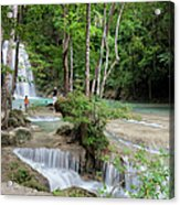 Erawan National Park In Thailand Acrylic Print