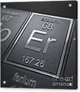 Erbium Chemical Element Acrylic Print