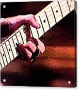Eric Clapton Playing Guitar Acrylic Print