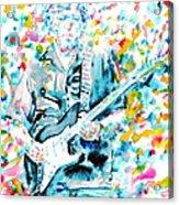 Eric Clapton - Watercolor Portrait Acrylic Print