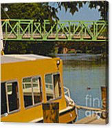 Erie Canal At Pittsford Ny Acrylic Print
