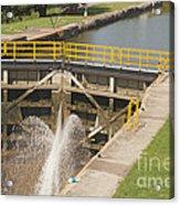 Erie Canal Lock Acrylic Print