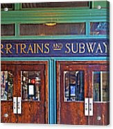 Erie Lackawanna Terminal Doors Hoboken Acrylic Print