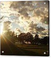 Erie Sunset Acrylic Print