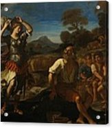 Erminia And The Shepherds Acrylic Print by Giovanni Francesco Barbieri