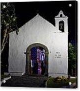Ermita San Telmo. Puerto De La Cruz By Night Acrylic Print